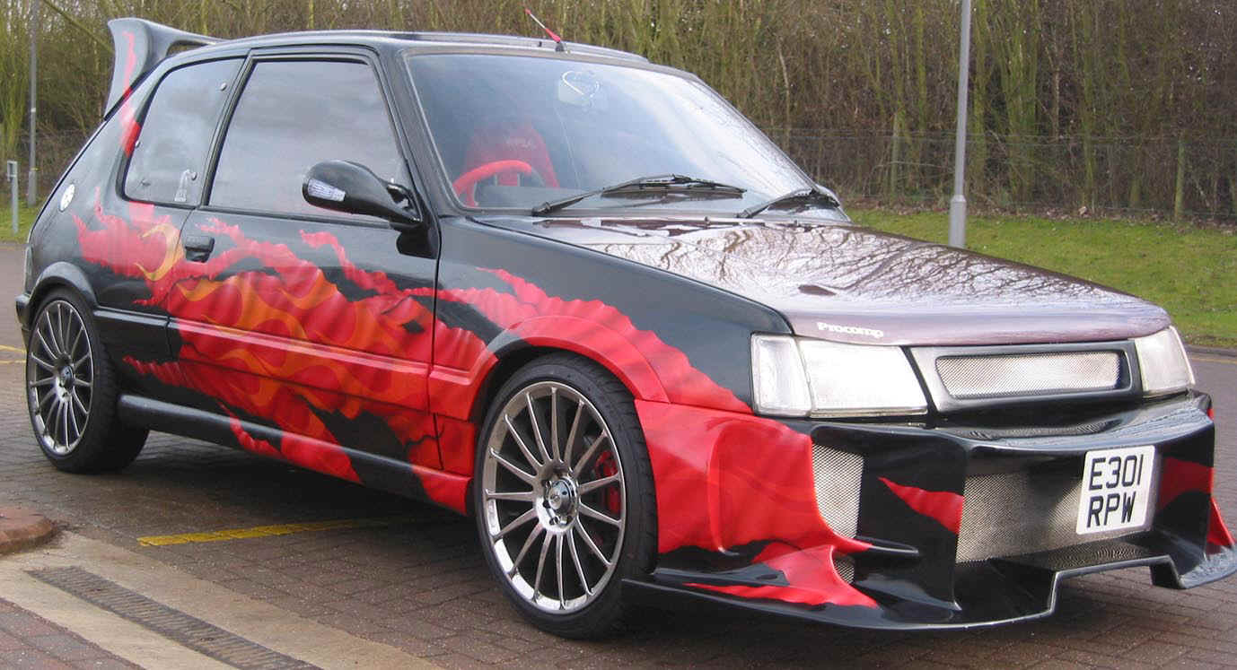 Revs Simon Johnston used Autofashion Orimental bumper on his Peugeot.